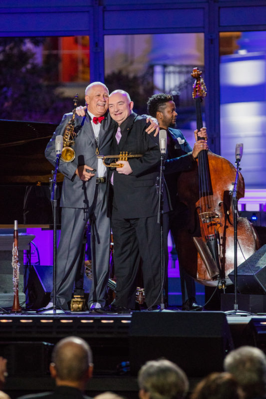 Photo of Paquito D'Rivera and James Morrison