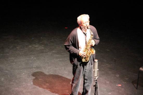 Photo of Anthony Braxton at October Revolution of Jazz and Contemporary Music (photo by Hugh Wilikofsky)