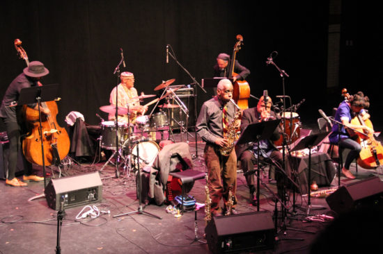 Photo of Art Ensemble of Chicago at October Revolution of Jazz and Contemporary Music (photo by Hugh Wilikofsky)
