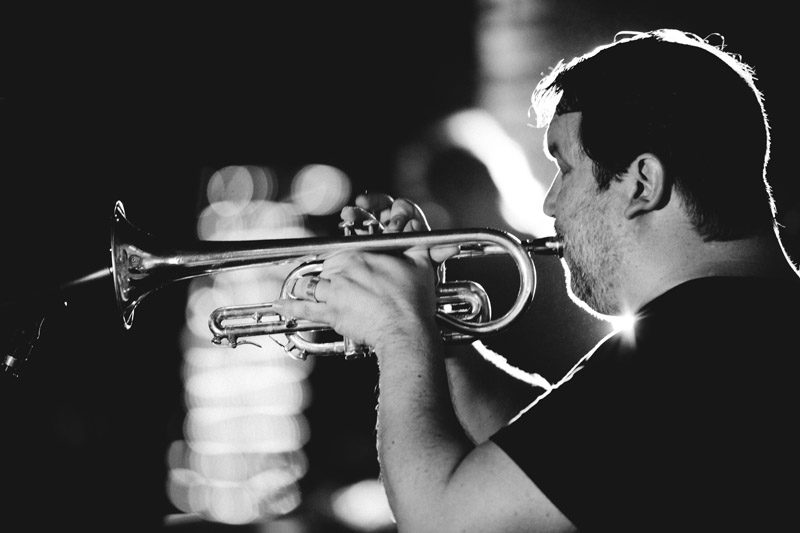 Photo of Rob Mazurek for Chops column on Sonic Trumpet