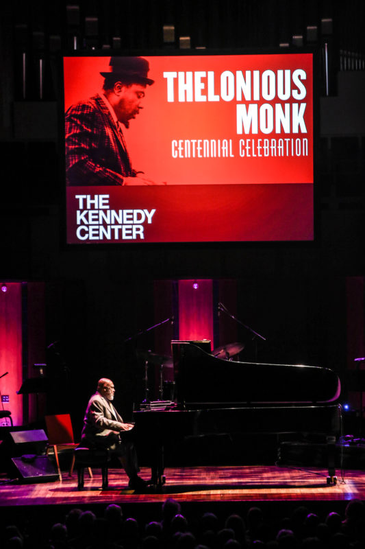 Kenny Barron performing at the Kennedy Center for the Monk Centennial celebration (photo by Jati Lindsay)