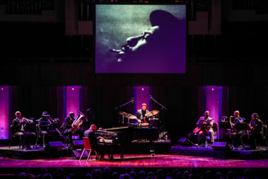 Jason Moran performing music from Monk at Town Hall at the Kennedy Center for the Monk Centennial celebration (photo by Jati Lindsay)