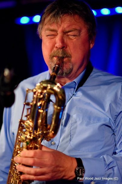 John Surman in performance at the 2017 London Jazz Festival