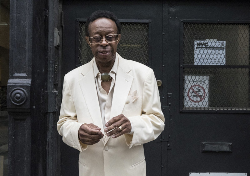Photo of Drummer Louis Hayes (photo by Janette Beckman)