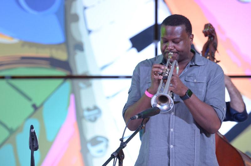 Sean Jones fronts his quartet at the 2017 Dominican Republic Jazz Festival