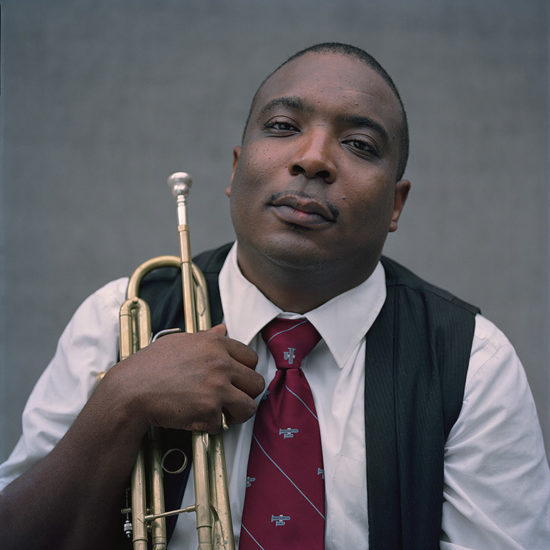 Photo of Preservation Hall educator Kevin Louis (photo by Melissa Cacciola)