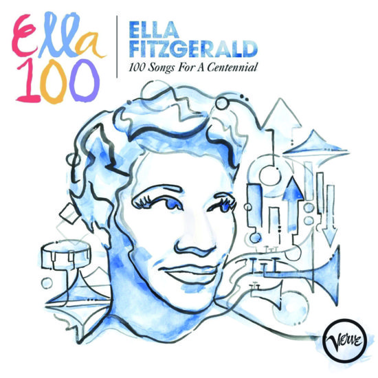 Cover of Ella Fitzgerald album 100 Songs for a Centennial