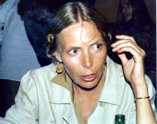 In Hollywood in the summer of 1978, Joni Mitchell works on the album that would become Mingus (photo c/o Peter Erskine)