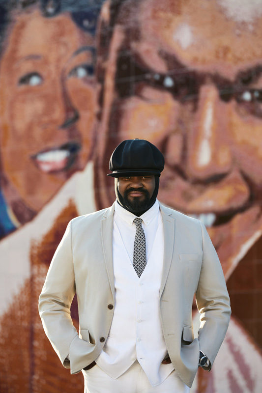 Gregory Porter (photo by Erik Umphrey) cover artist of the December 2017 issue of JazzTimes