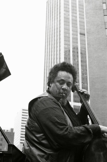 Charles Mingus celebrates the United States bicentennial with a performance in Manhattan's Financial District on July 4, 1976 (photo by Tom Marcello)