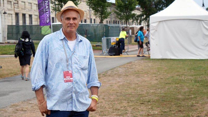 Lee Mergner at 2017 Newport Jazz Festival (photo by Ari Frankel)