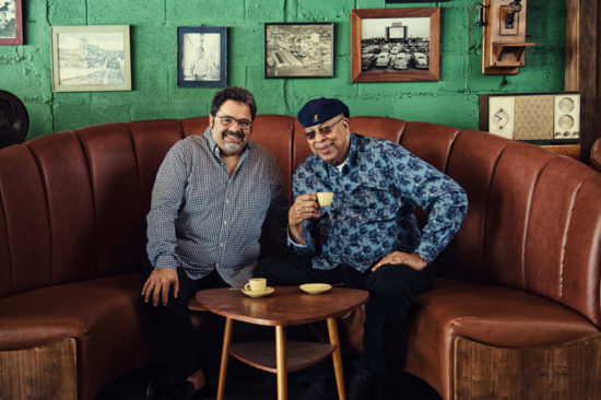 Arturo O'Farrill & Chucho Valdes (photo by Luis Olazabal)