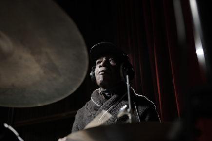 Afrobeat and jazz drummer Tony Allen (photo by Bernard Benant)