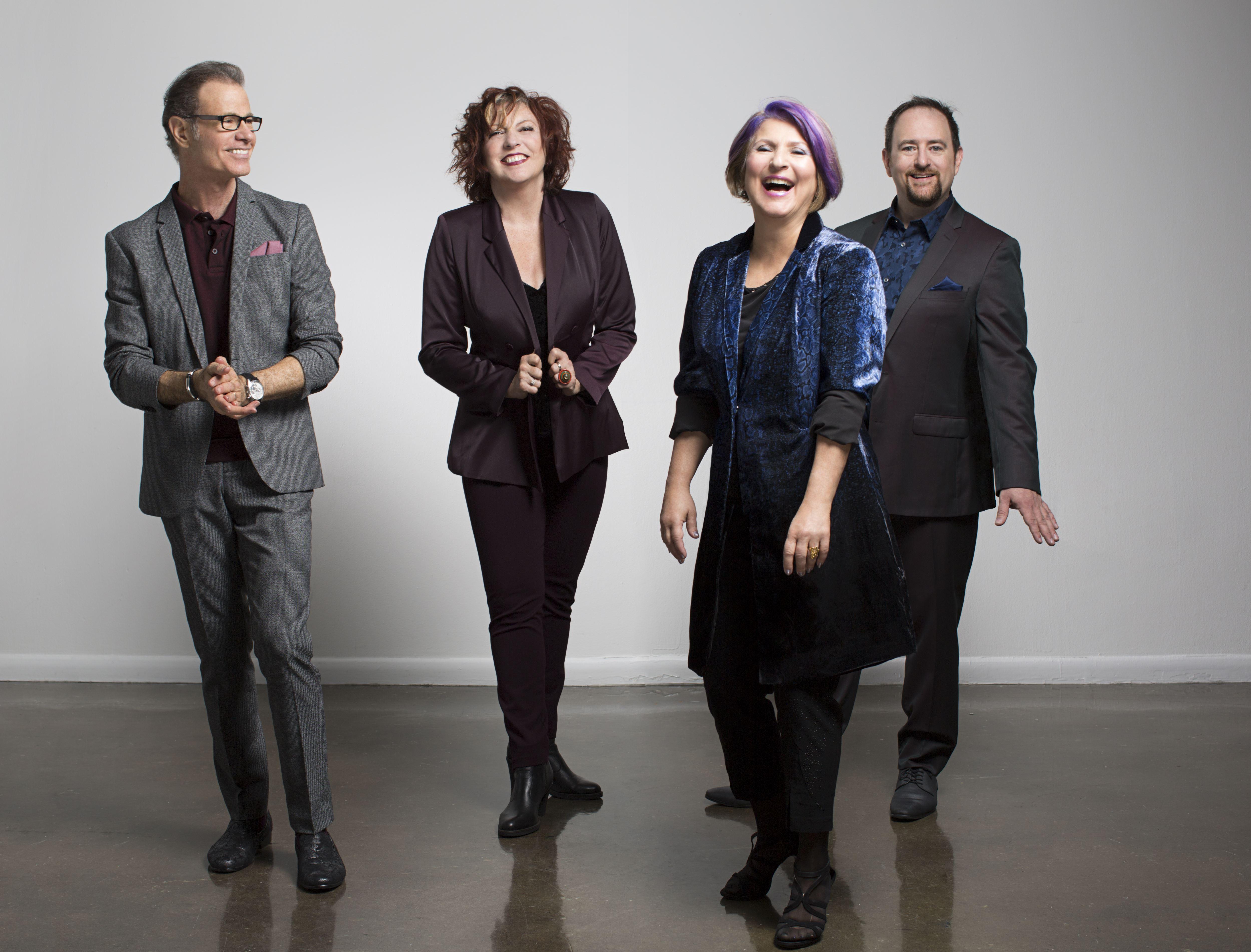 Alan Paul, Cheryl Bentyne, Janis Siegel and Trist Curless (from left) are the Manhattan Transfer (photo by John Abbott)