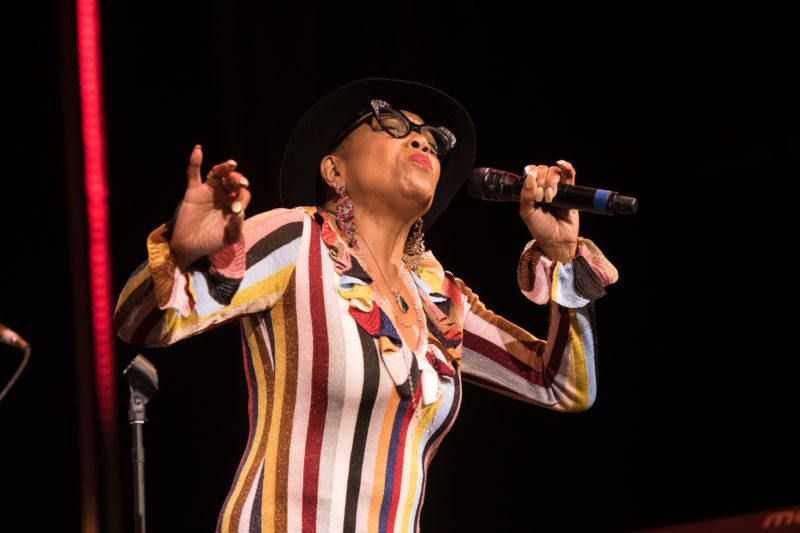 Dee Dee Bridgewater performing material from her Memphis project during the 2018 Blue Note at Sea cruise (photo by Amanda Turner/Tuke Photography)