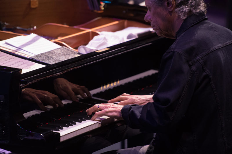 Chick Corea performing with his trio on the 2018 Blue Note at Sea cruise (photo by Amanda Turner/Tuke Photography)
