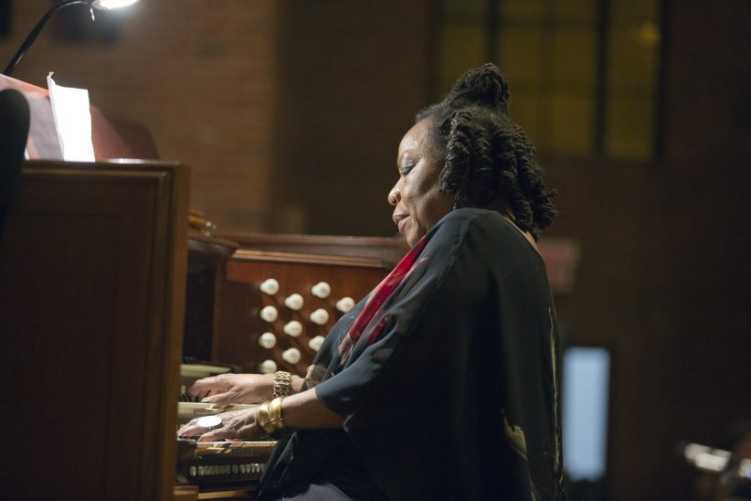 "Amina Claudine Myers at ""A Musical Tribute to Dr. Muhal Richard Abrams""; the Community Church of New York – Jan. 29, 2018 (Credit: Alan Nahigian)"