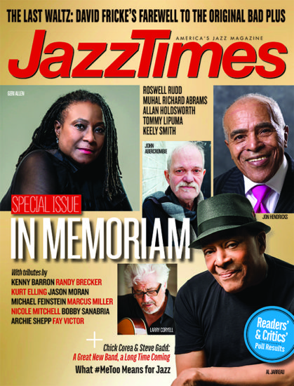 Cover of March 2018 issue of JazzTimes