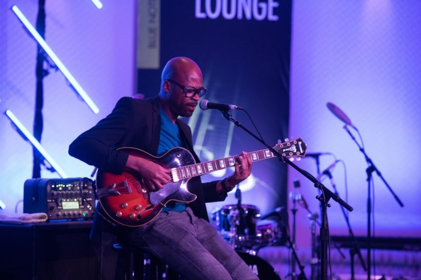 Lionel Loueke performing a solo set during Blue Note at Sea 2018 (photo by Amanda Turner/Tuke Photography)