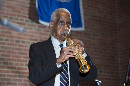 "Roscoe Mitchell at ""A Musical Tribute to Dr. Muhal Richard Abrams""; the Community Church of New York – Jan. 29, 2018 (Credit: Alan Nahigian)"