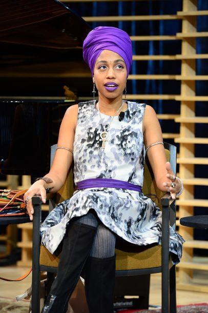 Jazzmeia Horn at Jazz Congress 2018 (photo by Frank Stewart/JALC)