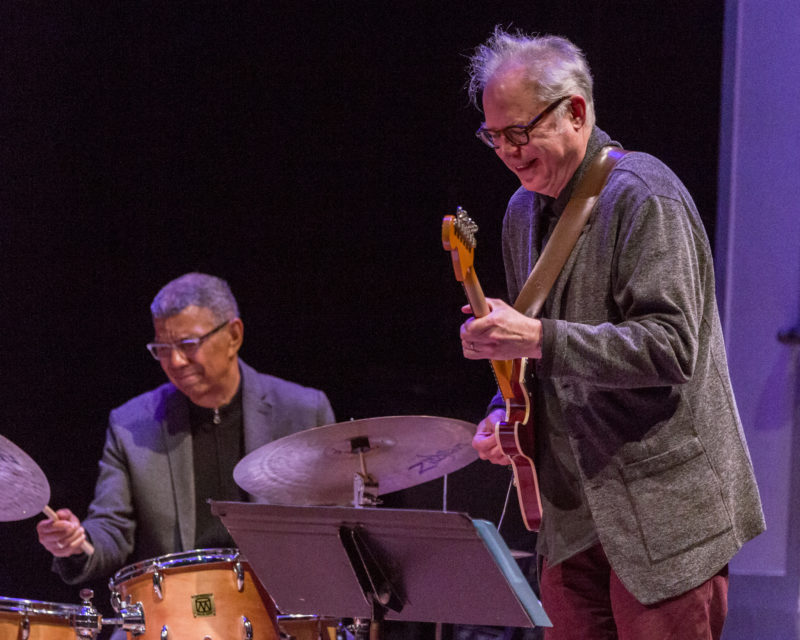 Jack DeJohnette (left) and Bill Frisell (photo by Scott Friedlander)