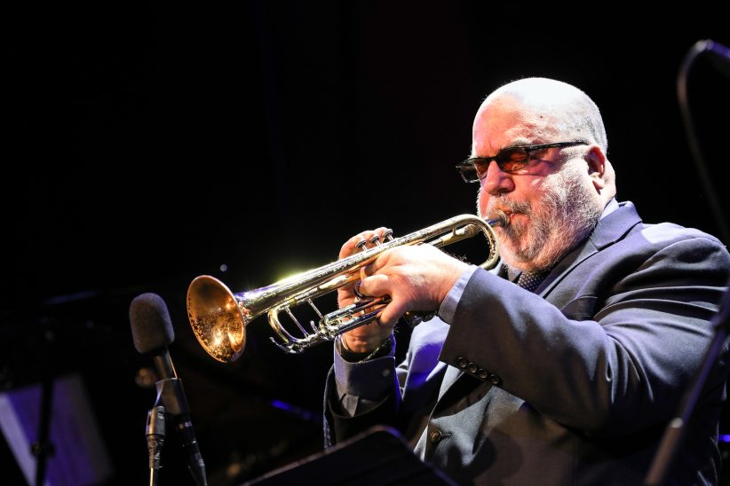 Randy Brecker performing at the 2018 PDX Jazz Festival (photo by Mark Sheldon)
