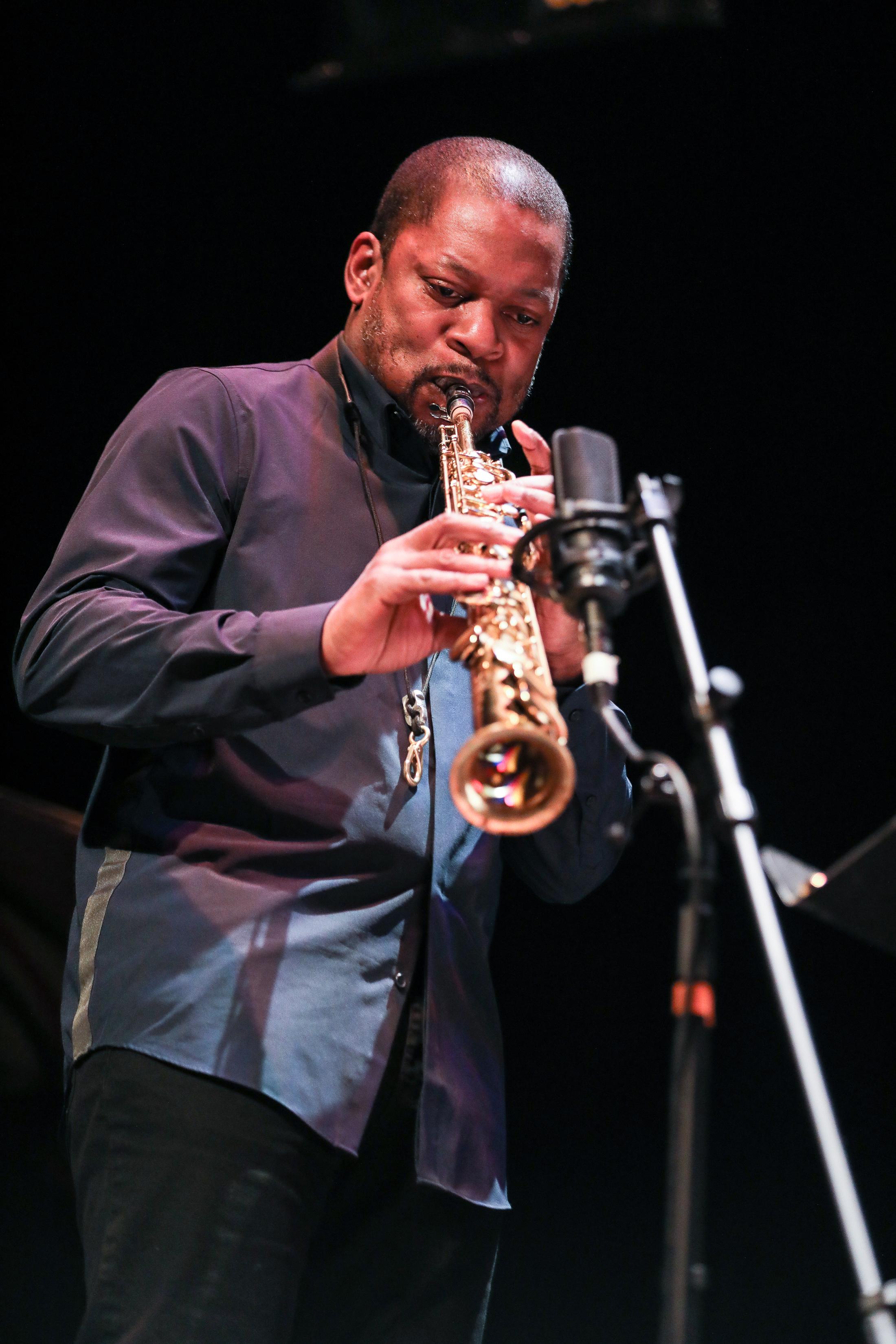 Ravi Coltrane performing with Esperanza Spalding and Terri Lyne Carrington at the 2018 PDX Jazz Festival (photo by Mark Sheldon)