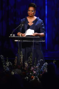 Dianne Reeves accepts her NEA Jazz Masters award (photo by Shannon Finney, c/o NEA)