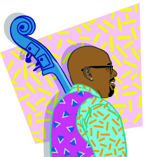 Illustration of Christian McBride by Julia Chiplis