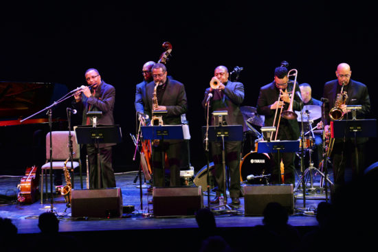 Abdullah Ibrahim's Ekaya pays tribute to the Jazz Epistles at the Brooklyn Academy of Music; April 18, 2018 (photo by Mike Benigno)