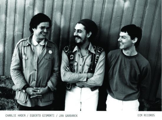 Charlie Haden, Egberto Gismonti and Jan Garbarek (from left) (photo c/o ECM)