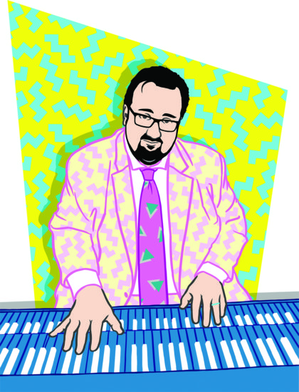 Illustration of Joey DeFrancesco by Julia Chiplis