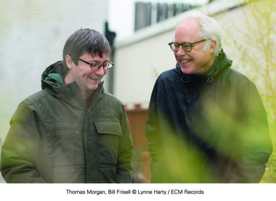 Thomas Morgan and Bill Frisell (photo by Lynne Harty/ECM Records)