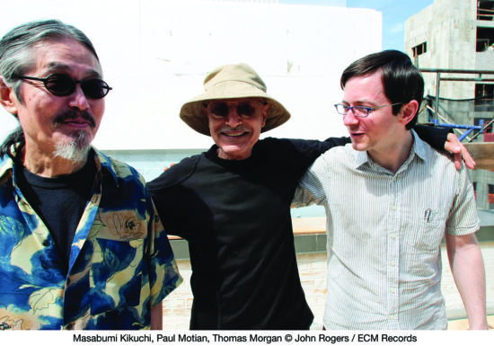 Masabumi Kikuchi, Paul Motian and Thomas Morgan (from left) (photo by John Rogers/ECM)