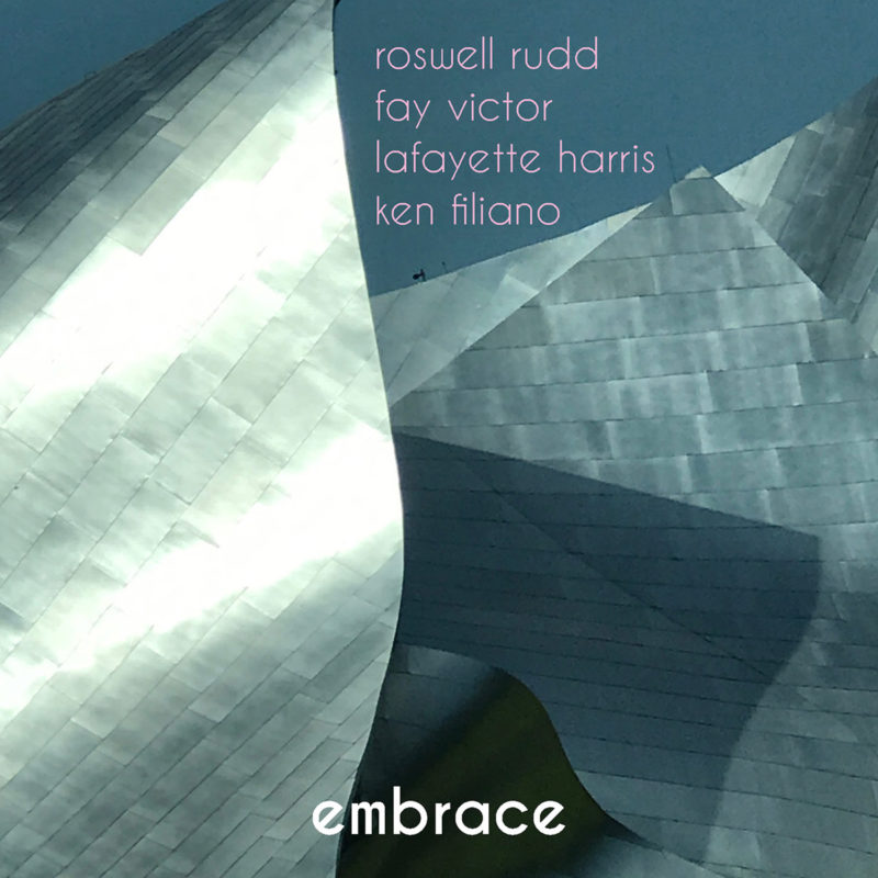 Cover of Roswell Rudd/Fay Victor/Lafayette Harris/Ken Filiano album Embrace