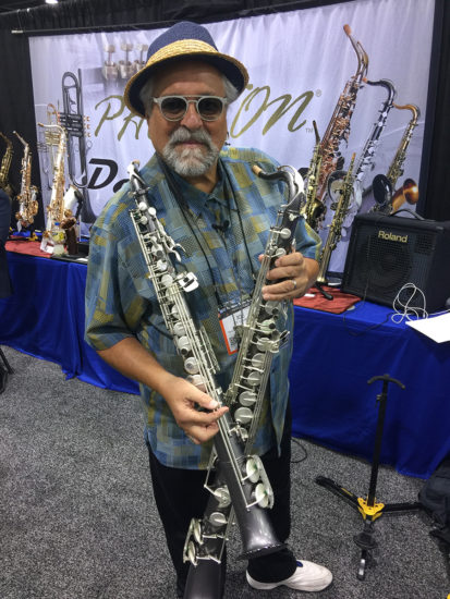 Joe Lovano with his Sax Dakota straight alto and tenor saxophones