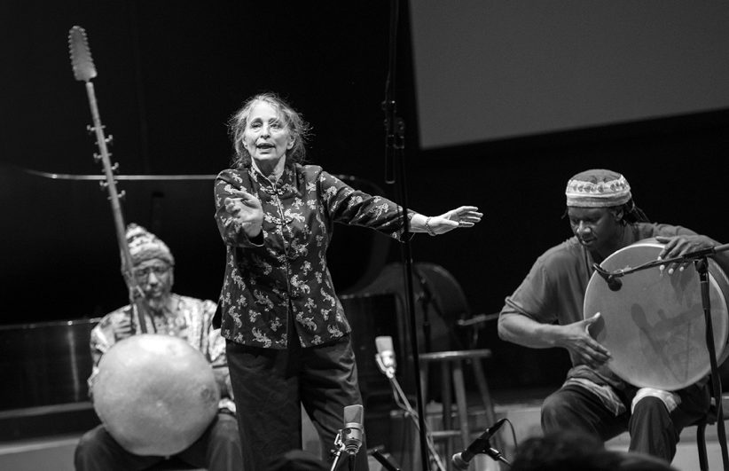 William Parker (L), Patricia Nicholson Parker, and Hamid Drake open the 23rd Vision Festival in Brooklyn