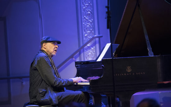 Dave Burrell at the piano during one of three sets at Roulette, May 23, 2018