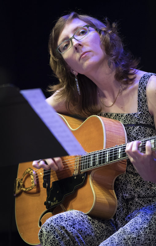 Mary Halvorson performs with Code Girl at Roulette, May 24, 2018