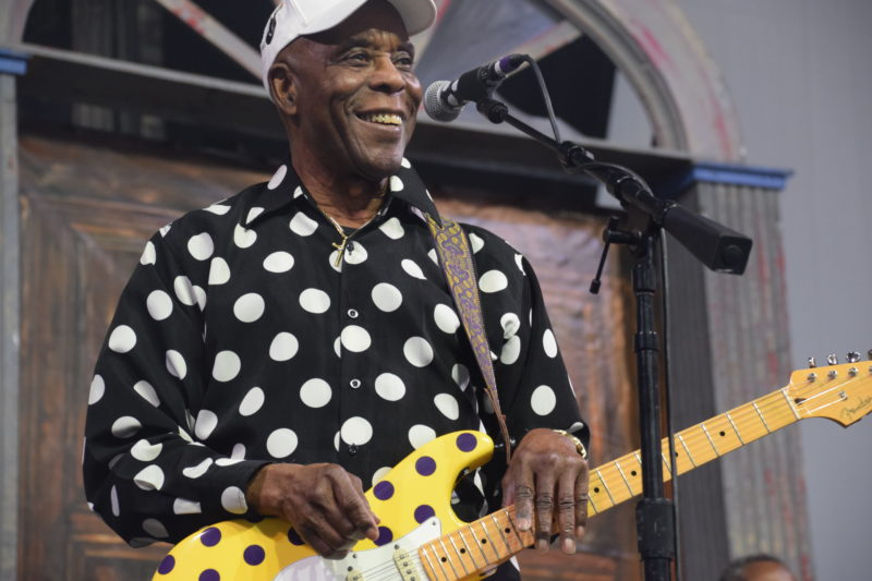 Buddy Guy performing at the 2018 New Orleans Jazz & Heritage Festival (photo by Joel A. Siegel)