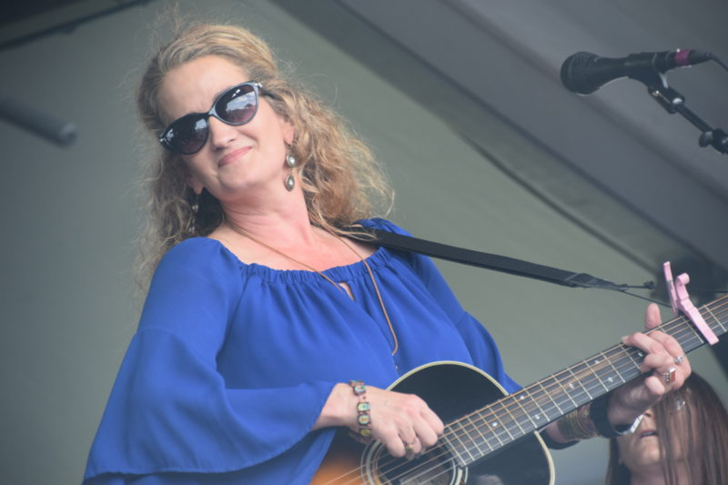 Christine Balfa performing at the 2018 New Orleans Jazz & Heritage Festival (photo by Joel A. Siegel)