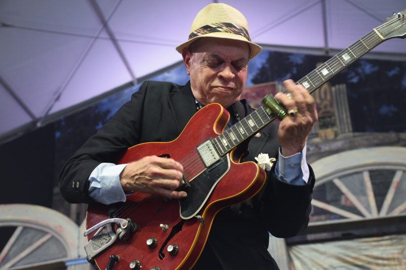 Deacon John performing at the 2018 New Orleans Jazz & Heritage Festival (photo by Joel A. Siegel)