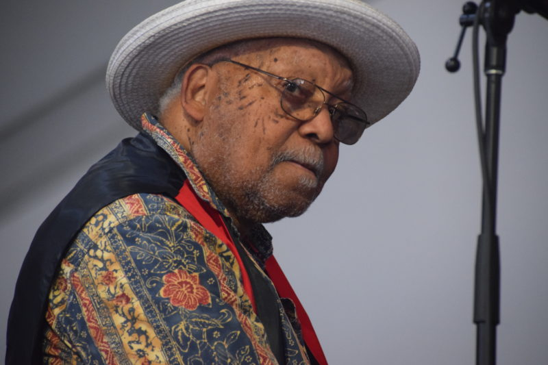 Ellis Marsalis performing at the 2018 New Orleans Jazz & Heritage Festival (photo by Joel A. Siegel)