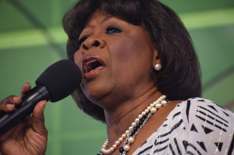 Irma Thomas performing at the 2018 New Orleans Jazz & Heritage Festival (photo by Joel A. Siegel)