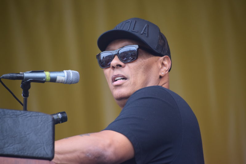 Ivan Neville performing at the 2018 New Orleans Jazz & Heritage Festival (photo by Joel A. Siegel)
