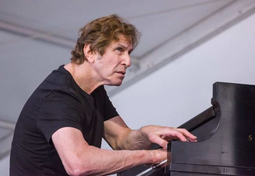 Joel Futterman in performance at the 2018 New Orleans Jazz & Heritage Festival (photo by Mark Robbins)