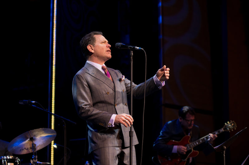 Kurt Elling performing on The Jazz Cruise in February 2018 (photo by Tuke Photography)