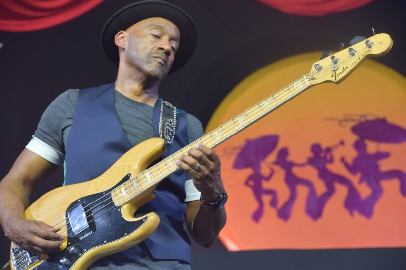 Marcus Miller performing at the 2018 New Orleans Jazz & Heritage Festival (photo by Joel A. Siegel)