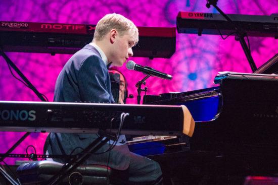 Oleg Akkuratov performs at the Global Concert (photo by Steve Mundinger/Thelonious Monk Institute of Jazz)